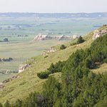 View from the summit of Scott's Bluff.