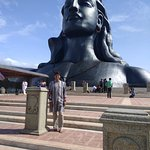 In front of 112 Feet Adi yogi