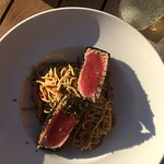 Ahi tuna and noodles