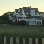 Lovely evening walk along the beach in front of Kennedy compound