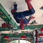Spiderman on the ceiling