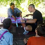 Learning to weave while on hill tribe home stay with All Thailand Experiences