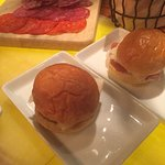 Sliders and meat platter