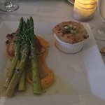 Fish, asparagus and potato
