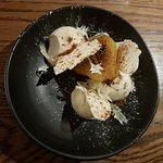 Saffron poached pear