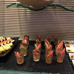 Food items served at the executive lounge