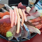 Yummy and cheap, Sashimi is fresh and full of the bowl!