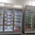 The fridges where the skewers are kept to keep the food fresh,