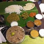 Chicken biryani and thali