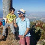 Helderberg west peak. my husband and 7 year old son.