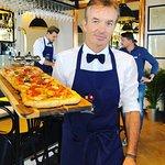 The famous Bla Bla Pizza Al Metro @ Bla Bla Vevey.