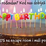 The Old Lock Up Escape Rooms BIRTHDAY OFFER