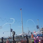 Air show display following the England 1/4 final win