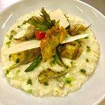 risotto artichauts et asperges