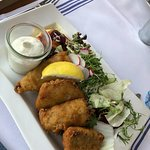 Whitefish fillets fried in a crispy beer