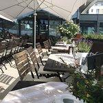 Outdoor part of restaurant
