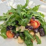 potato gnocchi violetta with artichokes, arucola and cherry tomatoes - very fresh