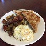 Breakfast on the weekends.