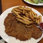 Schnitzel as big as your plate and pounded thin like Frau Meuller used to make!