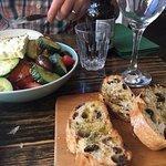 bread and greek salad