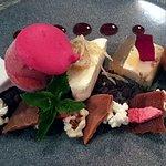 Assiette of chefs' desserts