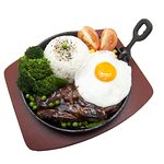 M049 Sizzling sirloin steak with Rice 铁板西兰扒饭