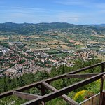 Looking over Gubbio from the top of the Funicular