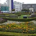 The spacious gardens