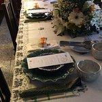 mesa decorada para o mini wedding