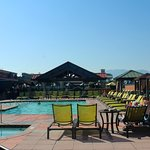 The pook area offers cabanas, food, drinks, and music