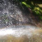 arco iris, em cima da pedra fica o circulo certinho