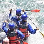 White water rafting on the Olympic qualification slalom course in Prague