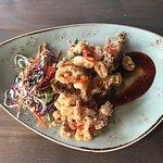 Crispy Calamari, Sesame Slaw, Korean BBQ Sauce, Cilantro