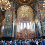 """Inside the Church of the Spilled Blood. All of the wall """"paintings"""" are actually mosaics."""