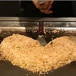 Chicken Fried Rice in a heart shape!