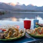 Dinner beside Segera Anak Lake