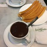 Chocolate with Churros at Chocolateria San Gines