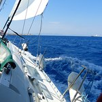 No we didn't capsize, it was safe sailing toward Rhodes