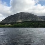 The view of the Lodge Inagh from the Lough.