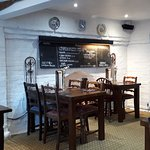 Dining room with specials board
