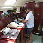 Food prep. in the galley