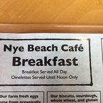 Nice breakfast menu