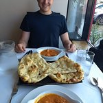 Naan bread bigger than your head! We ate it all.