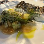 Hake with fennel and gooseberries
