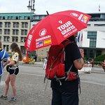 Guide with umbrella