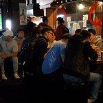 YakiniQ BBQ seating and people waiting