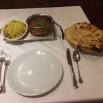 Lamb Naga Marrich, mushroom rice & Peshwari nan