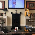 Flast Screen TV and Writing Desks