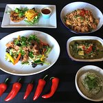 A selection of Thai dishes from our EAST meets WEST menu