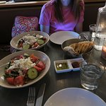 greek salad and pita